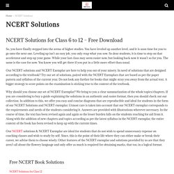 NCERT Solutions for Class 6 to 12 - Free Download - CBSE Astra