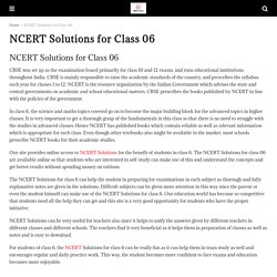 NCERT Solutions for Class 06 All Subjects - CBSE Astra