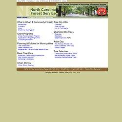 NCFS - Urban & Community Forestry