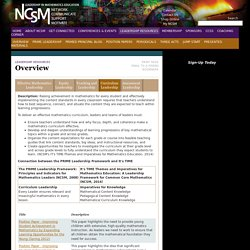 NCSM - Overview