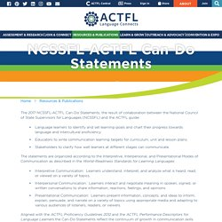NCSSFL-ACTFL Can-Do Statements