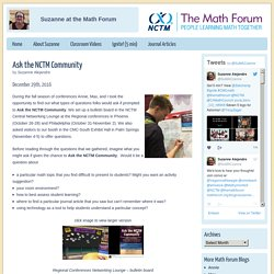 Suzanne at the Math Forum