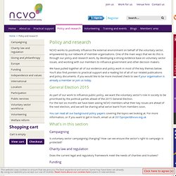 NCVO - Policy and research