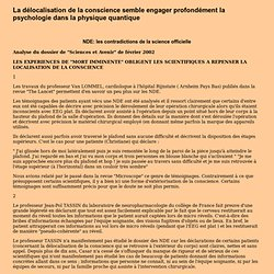 ARTICLE Delocalisation de la conscience