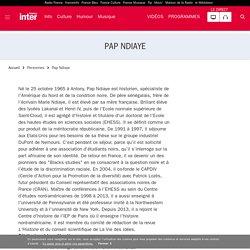 Pap Ndiaye : son actualité sur France Inter