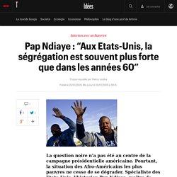 """Pap Ndiaye : """"Aux Etats-Unis, la ségrégation est souvent plus forte que dans les années 60"""" - Idées"""