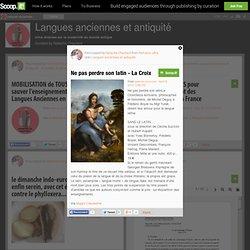 Langues anciennes et antiquité