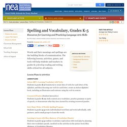 Spelling and Vocabulary, Grades K-5
