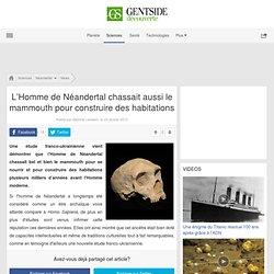 L'Homme de Néandertal chassait aussi le mammouth pour construire des habitations