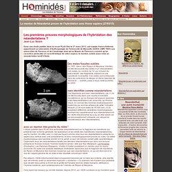 Le menton de Néandertal, preuve de l'hybridation avec Homo sapiens