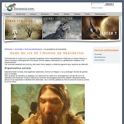 Homme de Neandertal. Vie quotidienne