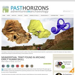 Neanderthal trait found in archaic early human skull