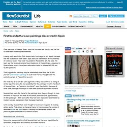 First Neanderthal cave paintings discovered in Spain - life - 10 February 2012