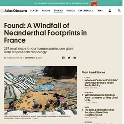 Found: A Windfall of Neanderthal Footprints in France