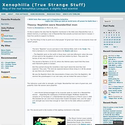 Theory: Nephilim were Neanderthal man