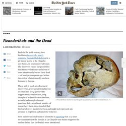 Neanderthals and the Dead