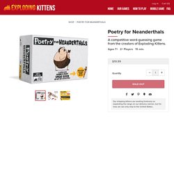 Poetry for Neanderthals: a word game by Exploding Kittens