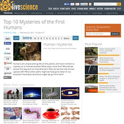 Top 10 Mysteries of the First Humans
