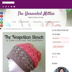 Neapolitan Eyelet Slouchy Hat: A Free Crochet Pattern