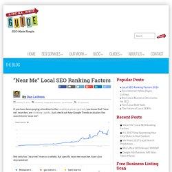 """Near Me"" Local SEO Ranking Factors - Local SEO Guide"