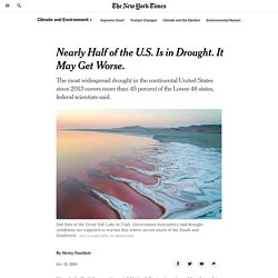 Nearly Half of the U.S. Is in Drought. It May Get Worse.
