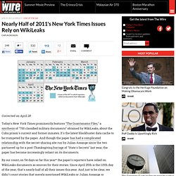 Nearly Half of 2011's New York Times Issues Rely on WikiLeaks - Global