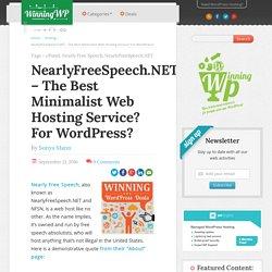 NearlyFreeSpeech.NET – The Best Minimalist Web Host For WordPress?