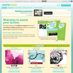 Stunning Designs - Affordable wedding websites that match your wedding invitations!