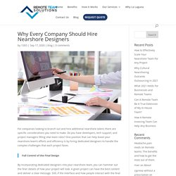 Nearshore Designers for Every Company - Remote Team Solutions