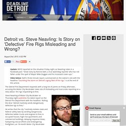 Detroit vs. Steve Neavling: Is Story on 'Defective' Fire Rigs Misleading and Wrong? –  Deadline Detroit