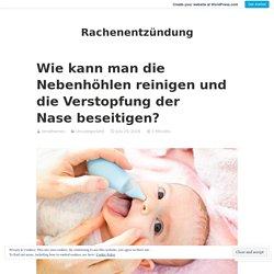 Nasenspülung hilft bei einer Nasennebenhöhlenentzündung