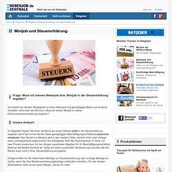 Ratgeber Nebenjobs: Minijob und Steuererklärung - NEBENJOB-ZENTRALE