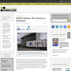 NASA's Nebula: The Cloud in a Container « Data Center Knowledge