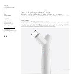 Nebulizing drug delivery / 2009 - Peter Gal