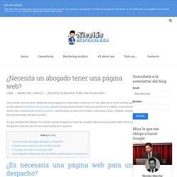 Es necesaria una página web para un despacho de abogados