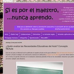 Si es por el maestro... nunca aprendo: ¿Quién evalúa las Necesidades Educativas del Aula? Concepto NEAula