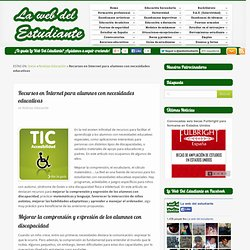 Recursos en internet necesidades educativas especiales