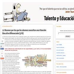 11 Razones por las que los alumnos necesitan una Atención Educativa Diferenciada (3/6)