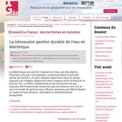 La nécessaire gestion durable de l'eau en Martinique