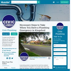 Necessary Steps to Take When You Have a Plumbing Emergency in Kingsford
