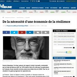 De la nécessité d'une économie de la résilience