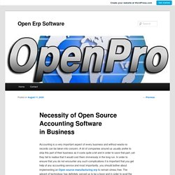 Necessity of Open Source Accounting Software in Business