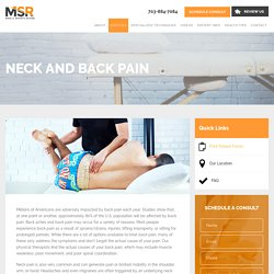 Neck and Back Pain Treatment in Arlington VA