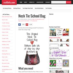 Neck tie School Bag
