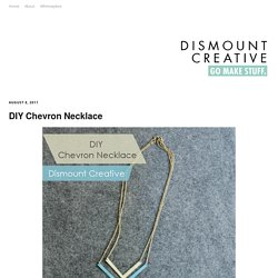 DIY Chevron Necklace