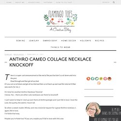 Anthro Cameo Collage Necklace Knockoff