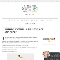 Anthro Necklace Week – Potentilla Bib