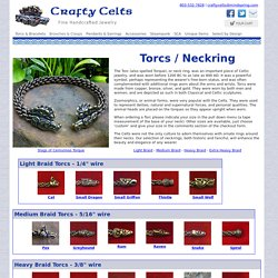 Torc Neckrings for men and women - traditional Celtic and Roman