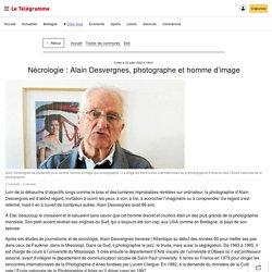 Nécrologie: Alain Desvergnes, photographe et homme d'image - Etel - Le Télégramme