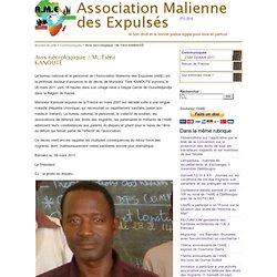 Avis nécrologique / M. Tiéni KANOUTÉ - Association Malienne des Expulsés